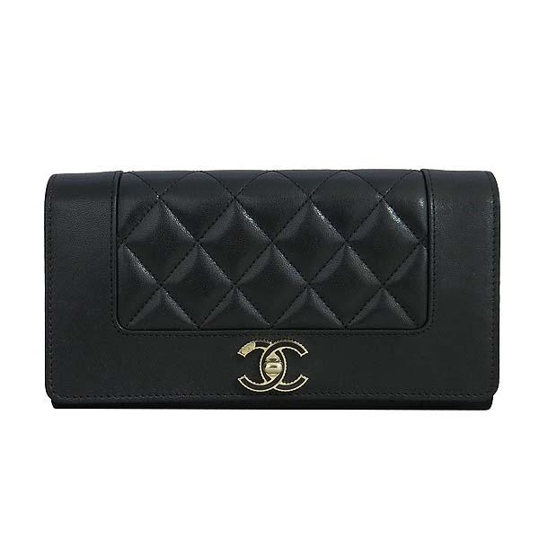 Chanel(샤넬) A58600 블랙 레더 금장 COCO로고 집업 장지갑 [동대문점] 이미지2 - 고이비토 중고명품