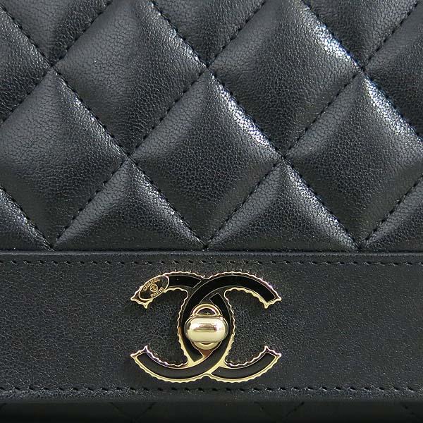 Chanel(샤넬) A58600 블랙 레더 금장 COCO로고 집업 장지갑 [동대문점] 이미지3 - 고이비토 중고명품