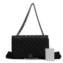 Chanel(샤넬) A47600 블랙 캐비어스킨 클래식 맥시 사이즈 은장 체인 숄더백 [대구반월당본점]
