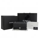 Chanel(샤넬) A01112  COCO로고 블랙 클래식 라인 쉐브론 캐비어스킨 M사이즈 은장 체인 숄더백 [대구반월당본점]