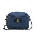 Ferragamo(페라가모) 21 F568 리디아 LYDIA 블루 사피아노 레더 금장체인 크로스백 [부산센텀본점]