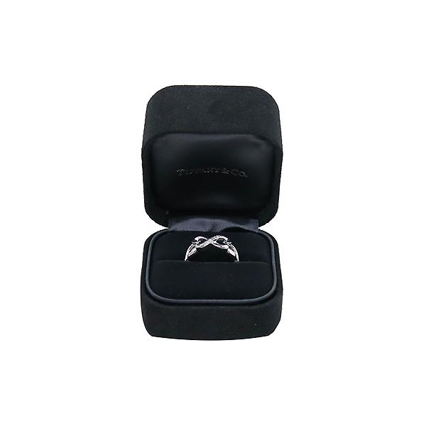 Tiffany(티파니) 18K(750) 화이트 골드 파로마 피카소 9포인트 다이아 더블 러빙하트 반지 - 12호 [부산센텀본점]