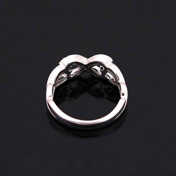 Tiffany(티파니) 18K(750) 화이트 골드 파로마 피카소 9포인트 다이아 더블 러빙하트 반지 - 12호 [부산센텀본점] 이미지4 - 고이비토 중고명품