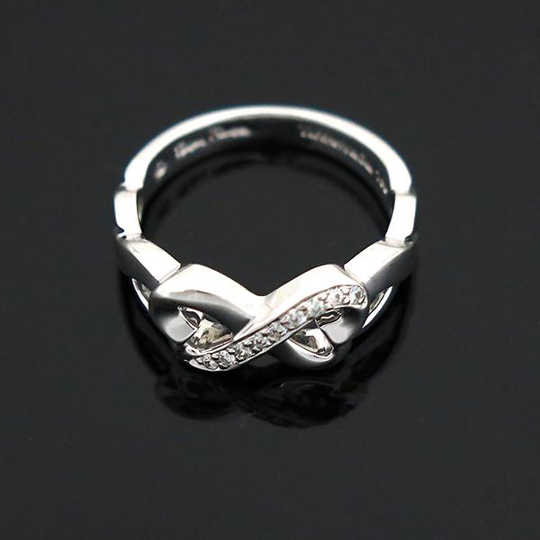 Tiffany(티파니) 18K(750) 화이트 골드 파로마 피카소 9포인트 다이아 더블 러빙하트 반지 - 12호 [부산센텀본점] 이미지5 - 고이비토 중고명품