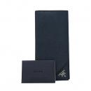 Prada(프라다) 2MV836 은장 로고 네이비 컬러 사피아노 남성용 장지갑 [대구동성로점]