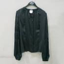 Chanel(샤넬) 100% 실크 블랙 긴팔 셔츠 브라우스 [부산센텀본점]