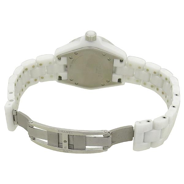 Chanel(샤넬) H2010 J12 화이트 세라믹 12포인트 다이아 베젤 핑크 사파이어 33MM 쿼츠 여성용 시계 [강남본점] 이미지3 - 고이비토 중고명품