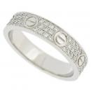 Cartier(까르띠에) B4083451 18K 화이트골드 러브링 다이아몬드 파베세팅 여성용 반지 - 11호 [대전시청점]