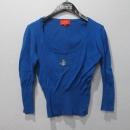 Vivienne_Westwood (비비안웨스트우드) 100% 코튼 블루 컬러 여성용 티셔츠 [대구반월당본점]