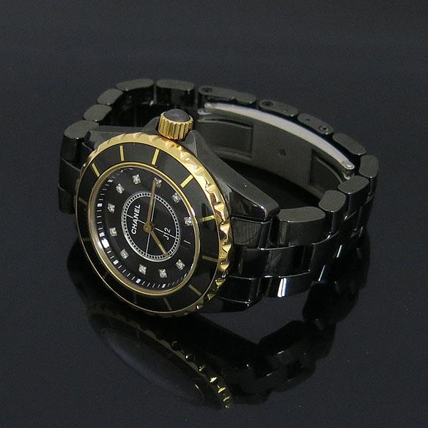 Chanel(샤넬) H2543 J12 18K 골드 베젤 콤비 블랙 세라믹 11포인트 여성용 시계 [동대문점] 이미지2 - 고이비토 중고명품