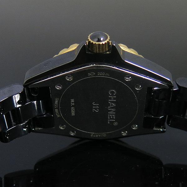 Chanel(샤넬) H2543 J12 18K 골드 베젤 콤비 블랙 세라믹 11포인트 여성용 시계 [동대문점] 이미지4 - 고이비토 중고명품