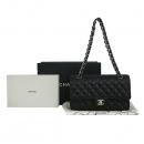 Chanel(샤넬) A0112Y01588 캐비어스킨 블랙 클래식 M사이즈 은장로고 체인 숄더백 [동대문점]
