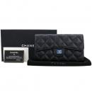Chanel(샤넬) A31506Y01588 블랙 캐비어스킨 은장 로고 클래식 장지갑 [강남본점]