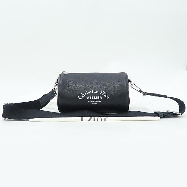 Dior(크리스챤디올) Dior HOMME(디올옴므) 아틀리에 이니셜 로고 블랙 레더 롤러 컬러치겸 크로스백 [강남본점]