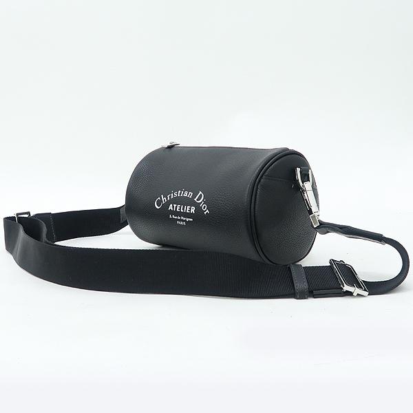 Dior(크리스챤디올) Dior HOMME(디올옴므) 아틀리에 이니셜 로고 블랙 레더 롤러 컬러치겸 크로스백 [강남본점] 이미지3 - 고이비토 중고명품