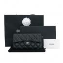 Chanel(샤넬) A31506Y01588 블랙 캐비어스킨 은장 로고 클래식 장지갑 [부산센텀본점]