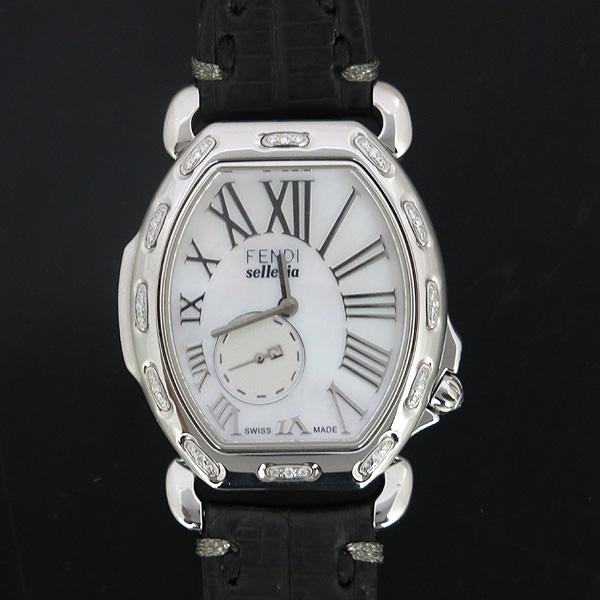 Fendi(펜디) 8400M 셀러리아 베젤 다이아 자개판 가죽 밴드 여성용 시계 [동대문점]