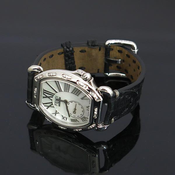 Fendi(펜디) 8400M 셀러리아 베젤 다이아 자개판 가죽 밴드 여성용 시계 [동대문점] 이미지2 - 고이비토 중고명품