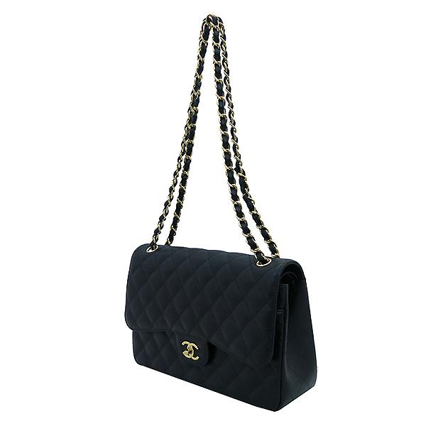 Chanel(샤넬) A58600 캐비어스킨 블랙 클래식 점보 L사이즈 금장로고 체인 플랩 숄더백 [부산센텀본점] 이미지3 - 고이비토 중고명품