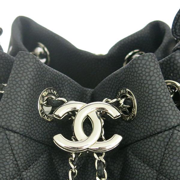 Chanel(샤넬) A91273 블랙 소프트캐비어 드로스트링 버킷 스몰 체인 토트백+숄더 스트랩 [동대문점] 이미지3 - 고이비토 중고명품