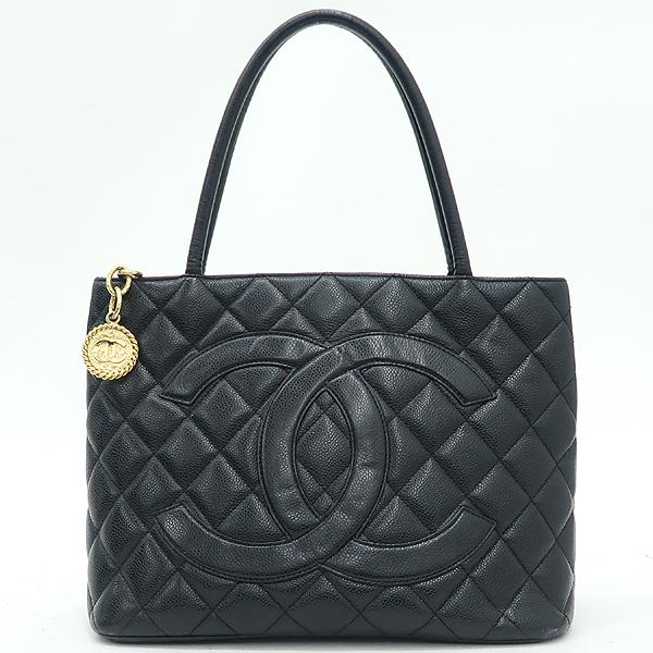 Chanel(샤넬) A01804 블랙 캐비어 스킨 금장 코인 토트백 [강남본점] 이미지2 - 고이비토 중고명품