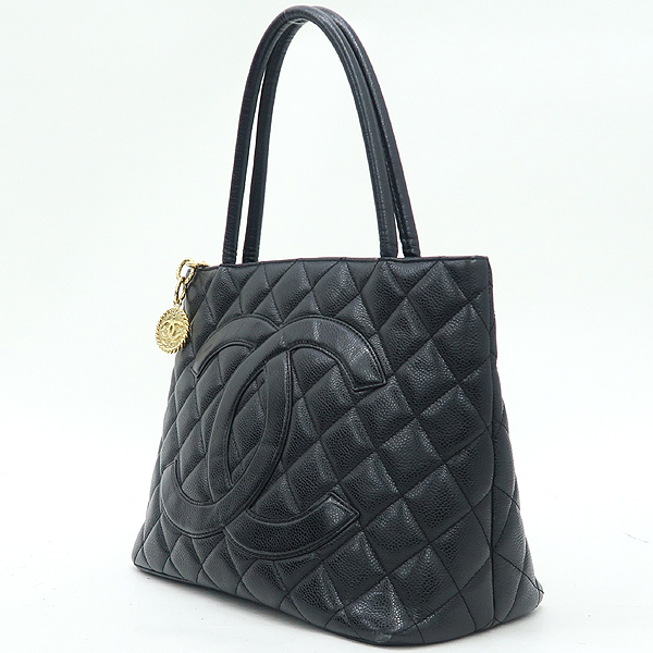 Chanel(샤넬) A01804 블랙 캐비어 스킨 금장 코인 토트백 [강남본점] 이미지3 - 고이비토 중고명품