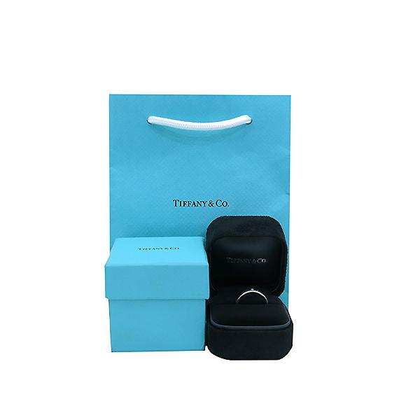 Tiffany(티파니) PT950 플래티늄 Tiffany&Co 라운드 로고 브릴리언트 3포인트 다이아 밴드 링 반지-10호 [부산센텀본점]