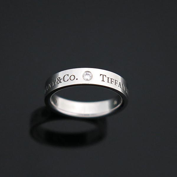 Tiffany(티파니) PT950 플래티늄 Tiffany&Co 라운드 로고 브릴리언트 3포인트 다이아 밴드 링 반지-10호 [부산센텀본점] 이미지3 - 고이비토 중고명품
