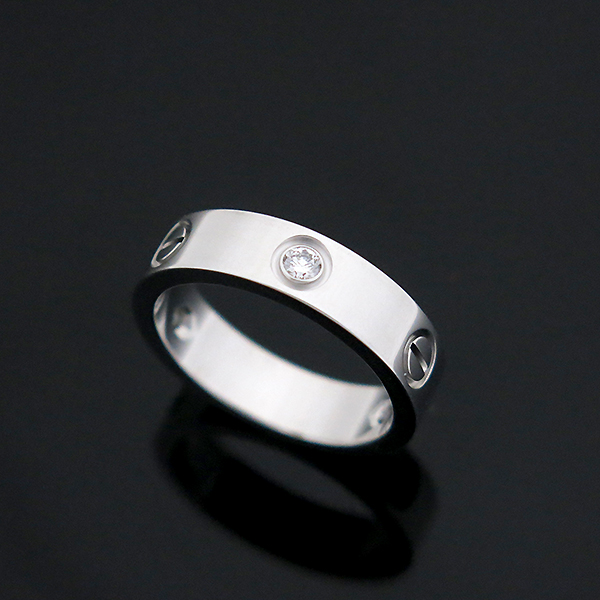 Cartier(까르띠에) B4032559 18K 화이트골드 Love ring 3 diamonds 3포인트 다이아 러브링 반지 - 19호 [부산센텀본점] 이미지3 - 고이비토 중고명품
