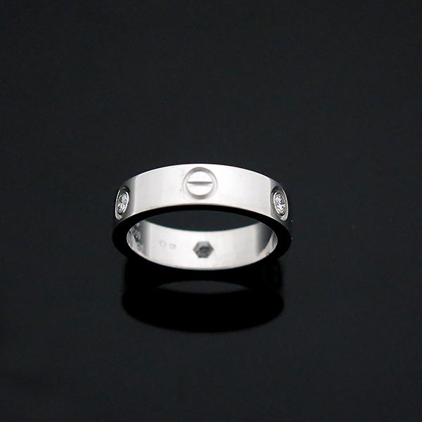 Cartier(까르띠에) B4032559 18K 화이트골드 Love ring 3 diamonds 3포인트 다이아 러브링 반지 - 19호 [부산센텀본점] 이미지5 - 고이비토 중고명품