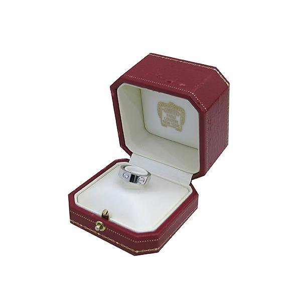 Cartier(까르띠에) B4032548 18K 화이트골드 Love ring 3 diamonds 3포인트 다이아 러브링 반지 - 8호 [부산센텀본점] 이미지2 - 고이비토 중고명품