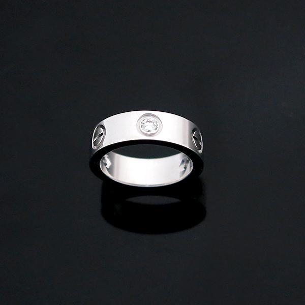 Cartier(까르띠에) B4032548 18K 화이트골드 Love ring 3 diamonds 3포인트 다이아 러브링 반지 - 8호 [부산센텀본점] 이미지3 - 고이비토 중고명품