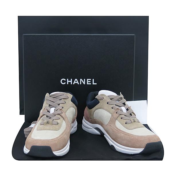 Chanel(샤넬) 스웨이드 베이지 핑크 컬러 여성용 스니커즈 [부산센텀본점]