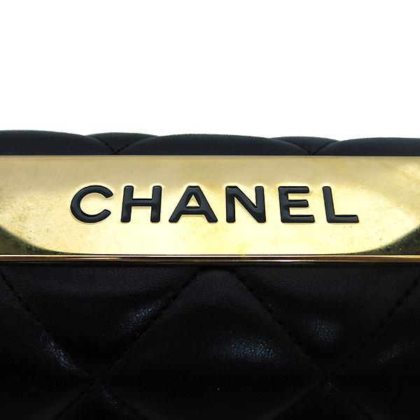 Chanel(샤넬) A92236 램스킨 블랙 컬러 퀼팅 TRENDY CC 트렌디 CC 핸들 골드메탈 금장로고 플랩 토트백 + 체인스트랩 2WAY [부산센텀본점] 이미지5 - 고이비토 중고명품
