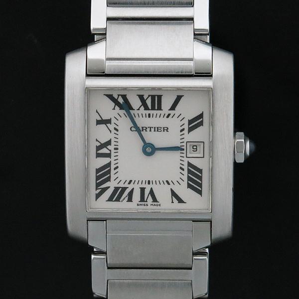 Cartier(까르띠에) W51011Q3 탱크 프랑세즈 M사이즈 쿼츠 스틸 남여공용 시계  [인천점]