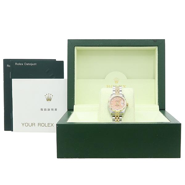 Rolex(로렉스) 179173 DATEJUST (데이저스트) 10포인트 다이아 장미석판 18K 골드 콤비 여성용 시계 [강남본점]