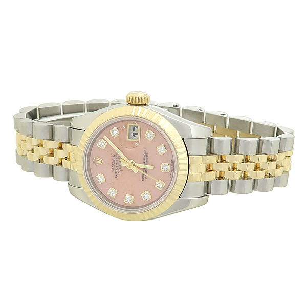 Rolex(로렉스) 179173 DATEJUST (데이저스트) 10포인트 다이아 장미석판 18K 골드 콤비 여성용 시계 [강남본점] 이미지2 - 고이비토 중고명품