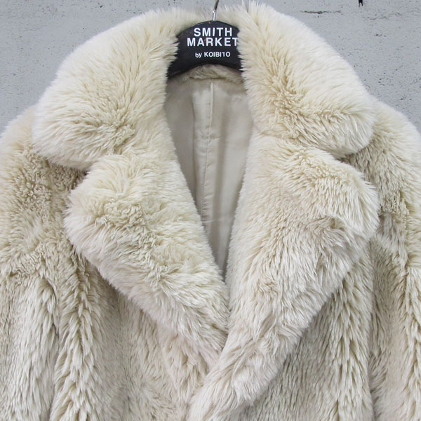 08SIRCUS(08서커스) 아이보리 컬러 페이크 퍼 여성용 코트 [동대문점] 이미지2 - 고이비토 중고명품