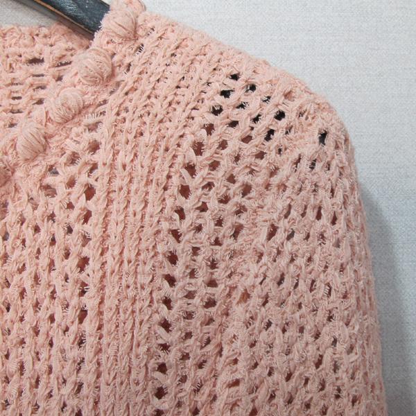Chanel(샤넬) P55741 핑크 컬러 나일론 혼방 면 여성용 가디건 [대구반월당본점] 이미지3 - 고이비토 중고명품