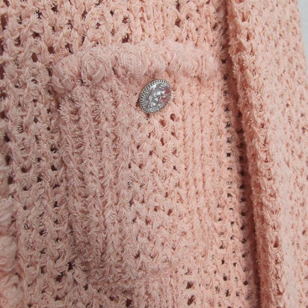 Chanel(샤넬) P55741 핑크 컬러 나일론 혼방 면 여성용 가디건 [대구반월당본점] 이미지4 - 고이비토 중고명품