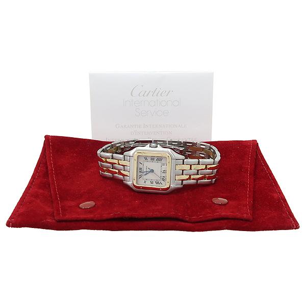 Cartier(까르띠에) PANTHERE 팬더 쿼츠 데이트 로마인덱스 18K 옐로우골드 콤비 스틸 밴드 남성용시계 [강남본점]