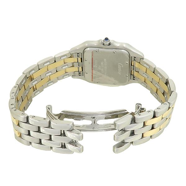 Cartier(까르띠에) PANTHERE 팬더 쿼츠 데이트 로마인덱스 18K 옐로우골드 콤비 스틸 밴드 남성용시계 [강남본점] 이미지3 - 고이비토 중고명품