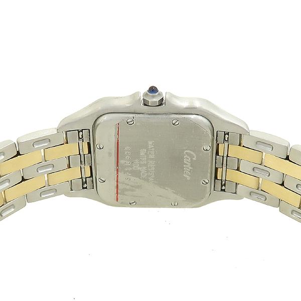 Cartier(까르띠에) PANTHERE 팬더 쿼츠 데이트 로마인덱스 18K 옐로우골드 콤비 스틸 밴드 남성용시계 [강남본점] 이미지4 - 고이비토 중고명품