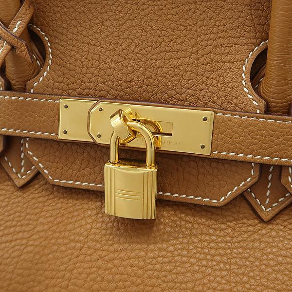 Hermes(에르메스) 벌킨 35 카멜 컬러 금장 로고 토트백 [강남본점] 이미지5 - 고이비토 중고명품
