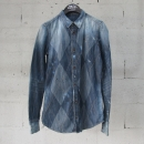DSQUARED2 (디스퀘어드 2) S72DL0284 블루 컬러 아가일 체크 여성용 데님 셔츠 [동대문점]