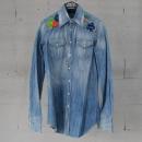 DSQUARED2 (디스퀘어드2) S75DL0279 플라워 스티치 여성용 워싱 데님 셔츠 [동대문점]