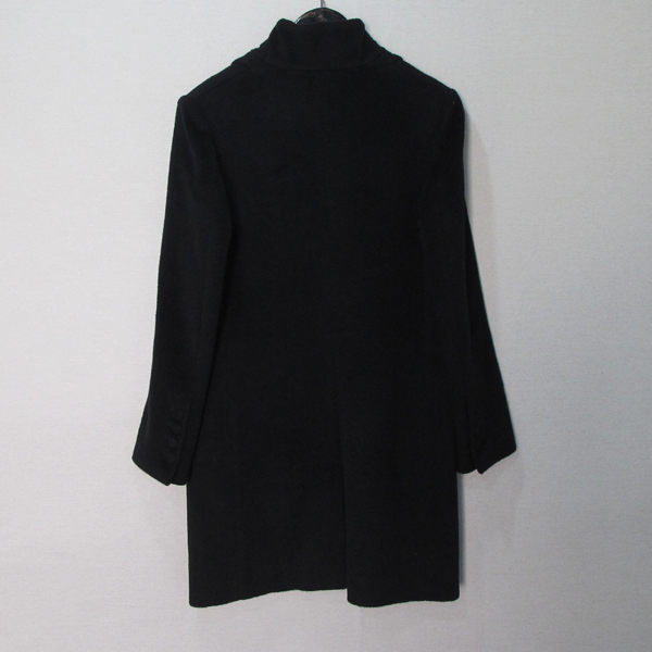 KUHO(구호) 블랙 컬러 앙고라 캐시미어 혼방 여성용 코트 [대구반월당본점]