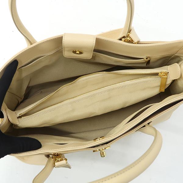 Chanel(샤넬) A15206 카프스킨 캐비어 베이지 금장 COCO로고 서프 토트백 + 숄더스트랩 2WAY [강남본점] 이미지4 - 고이비토 중고명품