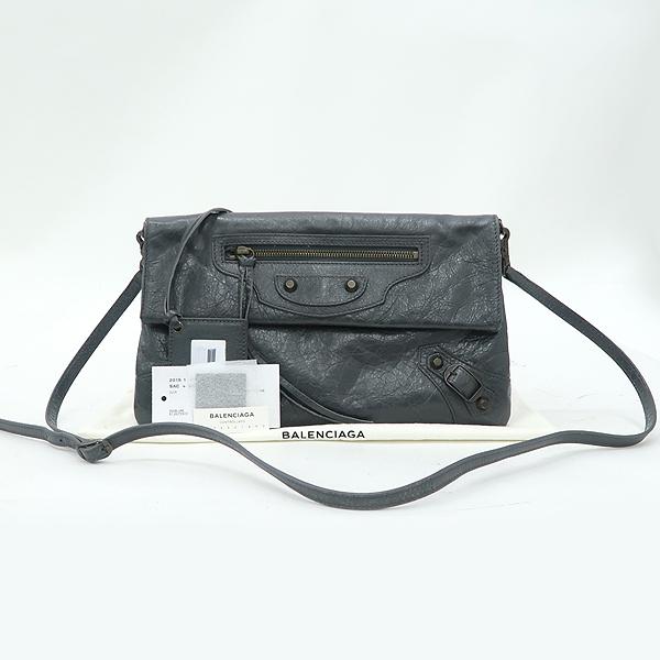 Balenciaga(발렌시아가) 319376 그레이 컬러 클래식 ENVELOPE 엔벨롭 플랩 클러치+숄더스트랩 [강남본점]