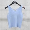 Armani(아르마니) 캐시미어 100% 스카이 블루 컬러 여성용 크롭 슬리브리스 니트 [동대문점]